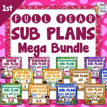1st Grade Sub Plans MegaBundle