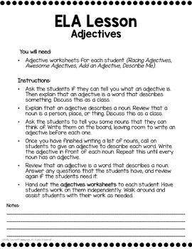 1st Grade Sub Plans Ready To Go for Substitute. DAY #3. No Prep. One full day.