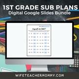 1st Grade Substitute Lesson Plans Google Slides Bundle