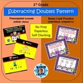 1st Grade Subtraction 4 - Doubles Pattern Powerpoint Lesso