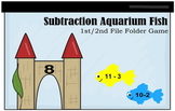 1st Grade Subtraction Aquarium Fish File Folder Game
