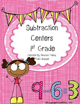 Subtraction Centers for 1st Grade