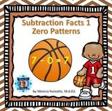 1st Grade Subtraction Facts 1 - Zero Patterns Boom Cards
