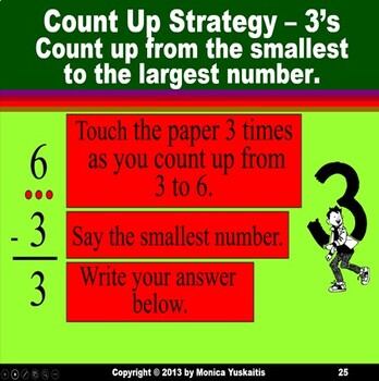 1st Grade Subtraction Facts 3 - Counting Up Powerpoint Lesson & Boom Cards