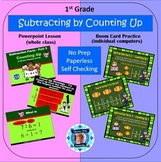 1st Grade Subtraction Facts 3 - Counting Up Powerpoint Les