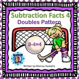 1st Grade Subtraction Facts 4 - Doubles Pattern Boom Cards