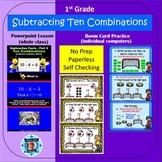 1st Grade Subtraction Facts 5 Combinations of Ten Powerpoi