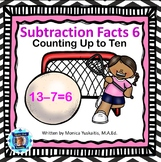 1st Grade Subtraction Facts 6 - Counting Up to Ten Boom Cards