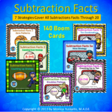 1st Grade Subtraction Facts Boom Card Bundle - 120 cards