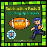 1st Grade Subtraction Facts 3 - Counting Up 1, 2, & 3 Boom Cards