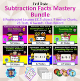 1st Grade Subtraction Facts Mastery Bundle - 6 Powerpoint