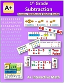 1st Grade Subtraction Lessons, Worksheets, Solution Manuals