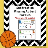 1st Grade Subtraction Missing Addend Game Puzzles Unknown Number Addition 1.OA.4