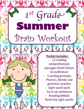 1st Grade Summer Brain Workout Packet {Aligned to CCS}