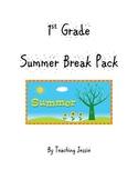 1st Grade Summer Break / Vacation Pack