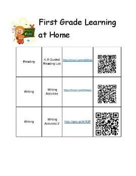 1st Grade Summer Learning Activities