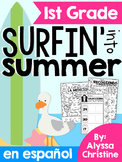 1st Grade Summer Math Review in Spanish