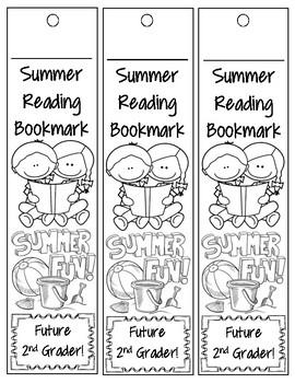 1st Grade Summer Reading Bookmark