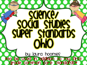 1st Grade Super Standards- OHIO Science/Social Studies