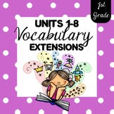 1st Grade SuperKids {Units 1-8} Memory Word Extensions