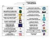 1st Grade Supply Checklist