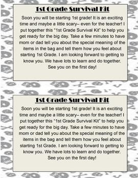 1st Grade Survival Kit