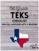1st Grade TEKS Checklist (9 Weeks Checks)