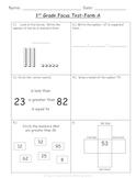 1st Grade TEKS Focus Test/ Benchmark  Form A:   An RTI Assessment Tool