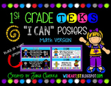 """1st Grade TEKS """"I Can"""" Learning Target Posters (Math Version)"""
