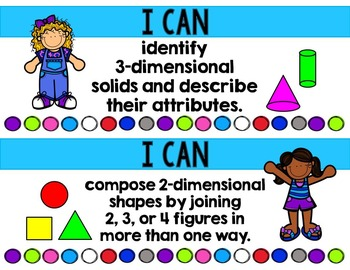 "1st Grade TEKS ""I Can"" Learning Target Posters (Math Version)"