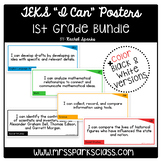 "1st Grade TEKS ""I Can"" Statement Cards Bundle"