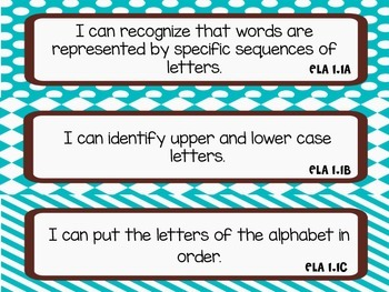 "1st Grade TEKS ""I Can"" Statements: ELA Edition"