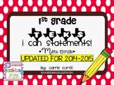 "1st Grade TEKS ""I Can"" Statements: Math Edition"