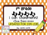 "1st Grade TEKS ""I Can"" Statements: Social Studies Edition"