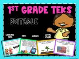 1st Grade TEKS Posters-Bundled Objectives *EDITABLE*