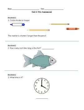 1st Grade TERC Investigations Unit 4 Pre-Assessment