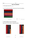 1st Grade TERC Investigations Unit 7 Pre-Assessment