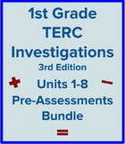 1st Grade TERC Investigations Units 1-8 Pre-Assessments Bundle