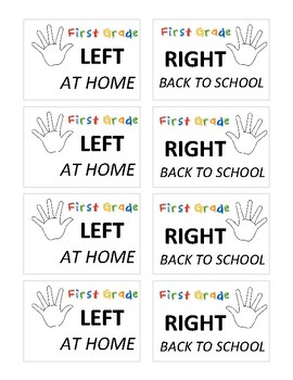 1st Grade Take Home Folder Labels