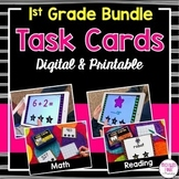 1st Grade Task Cards BUNDLE (digital and printable)