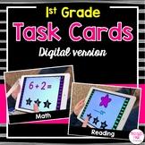 Digital Task Cards for 1st Grade - Distance Learning