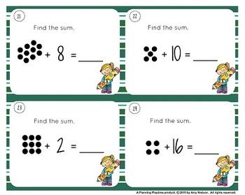 1st Grade Task Cards - Dot Addition Math