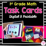 1st Grade Math Task Cards (Digital & Printable)