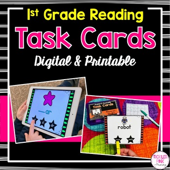 graphic about Printable Literacy Centers First Grade identified as 1st Quality Activity Playing cards for Literacy Facilities (Electronic Printable)