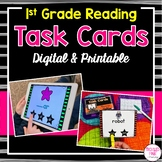 First Grade Task Cards for Literacy Centers (Digital & Printable)