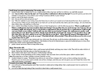 1st Grade Teachers College Small Moment/Narrative Writing Unit 1 Ch.16 Lesson