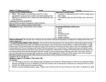 1st Grade Teachers College Small Moment/Narrative Writing Unit 1 ch. 11 lesson