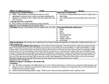 1st Grade Teachers College Small Moment/Narrative Writing Unit 1 ch. 12
