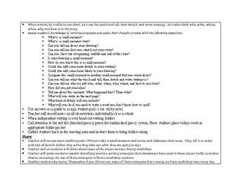 1st Grade Teachers College Small Moment/Narrative Writing Unit 1 ch. 5