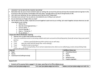 1st Grade Teachers College Small Moment/Narrative Writing Unit 1 ch.8